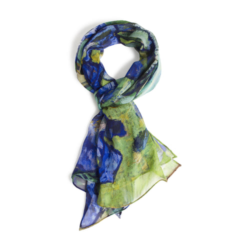 <i>Irises</i> Silk Scarf - New Design