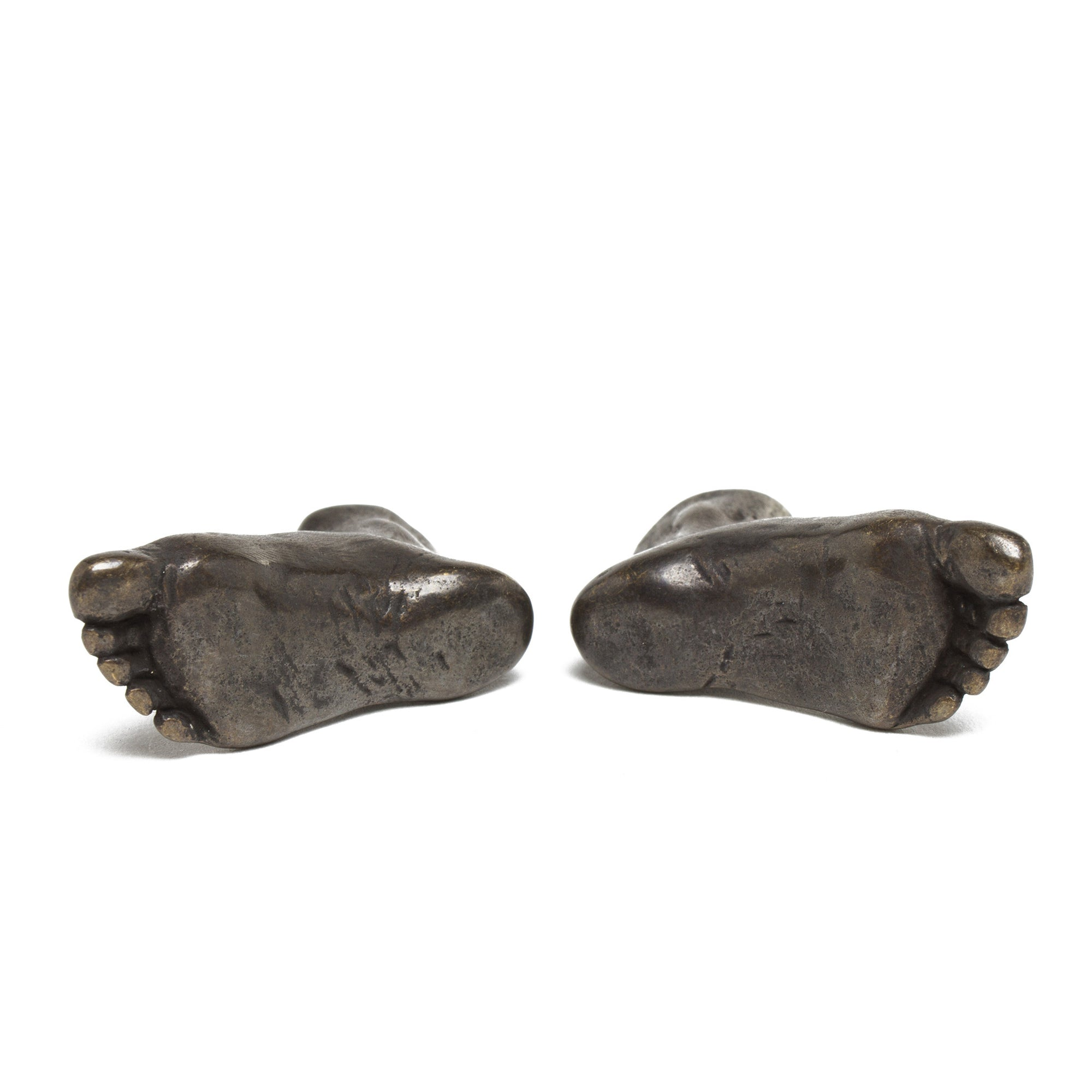 Pair of Miniature cast Bronze Feet- bottom of feet shown | Getty Store