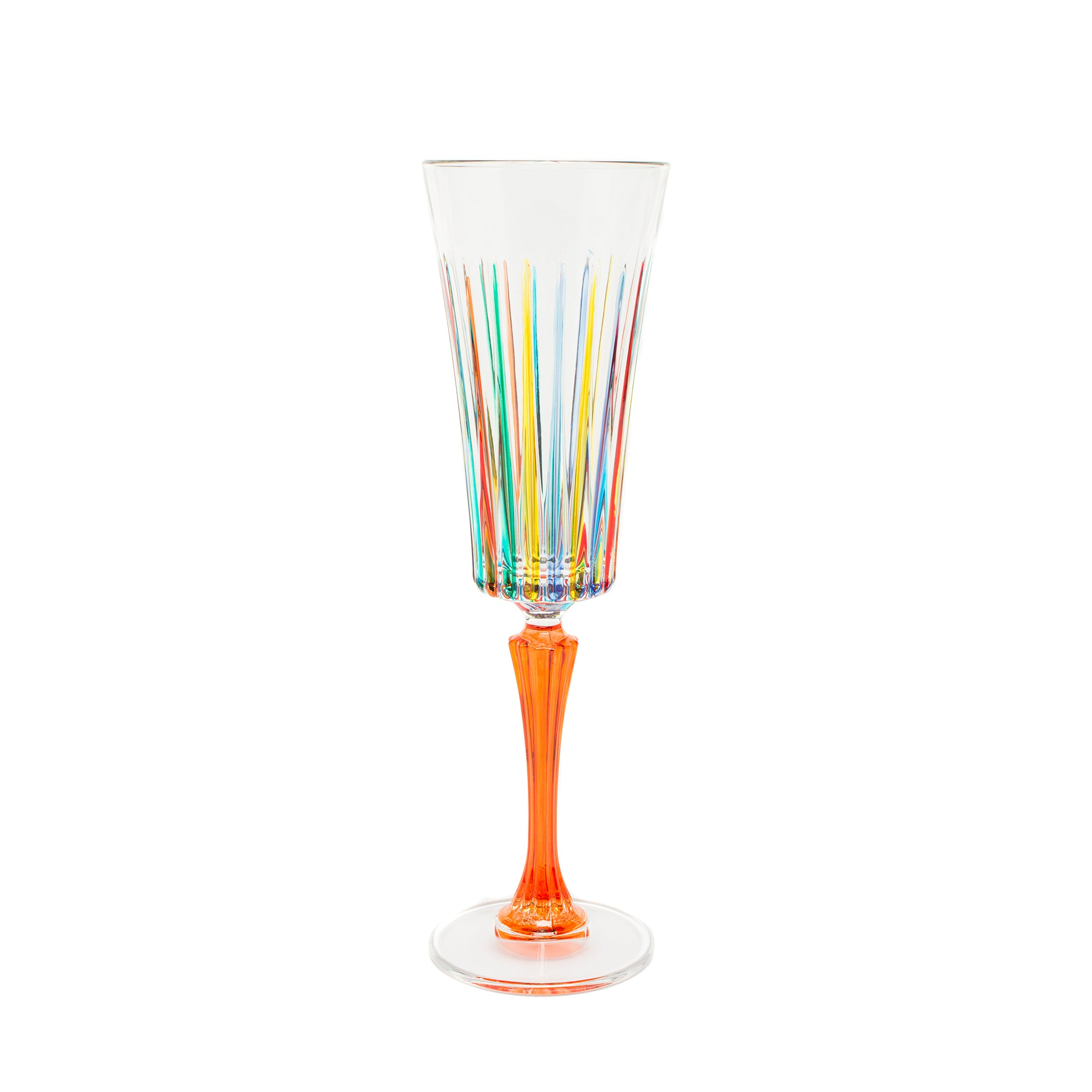 Murano glass champagne flute the getty store - Fluted wine glasses ...