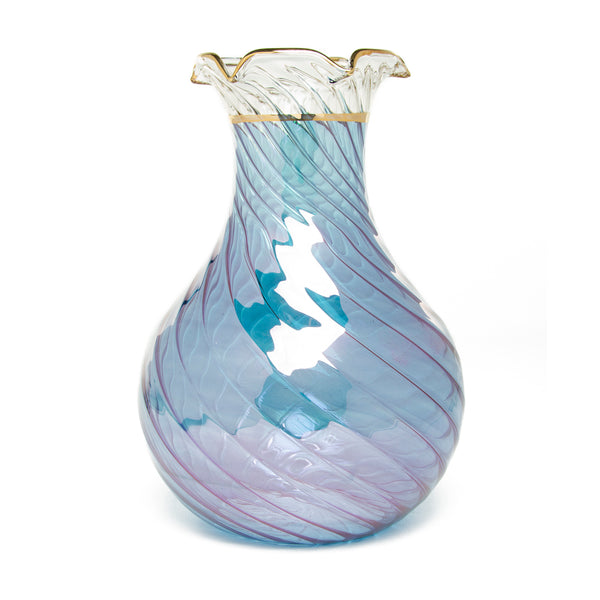 Egyptian Handblown Glass Vase - Blue