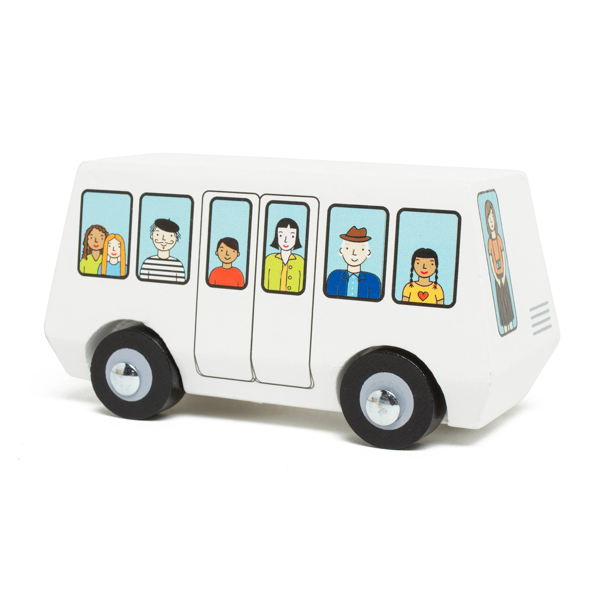 Wooden Getty Tram Toy