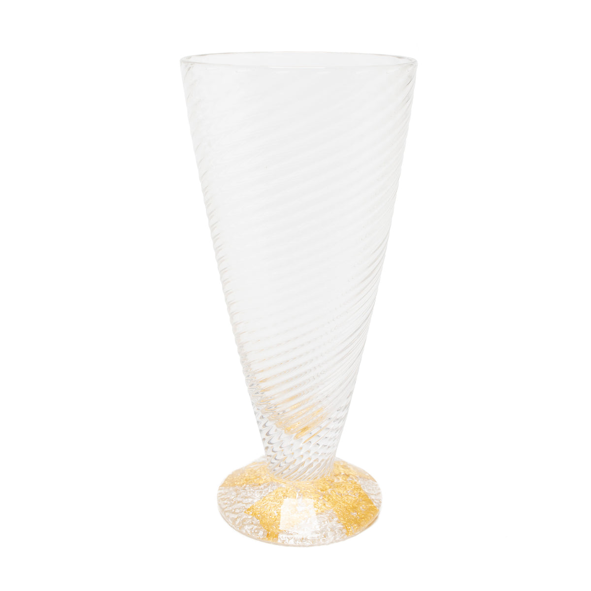 Wine Goblet - Handblown Glass with Gold Leaf