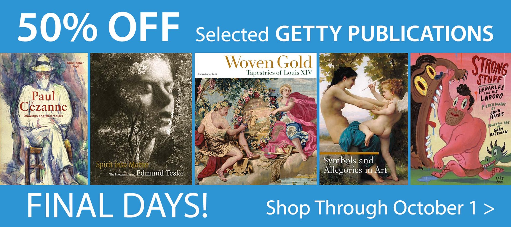 Summer Book Sale - 50% off selected Getty publications
