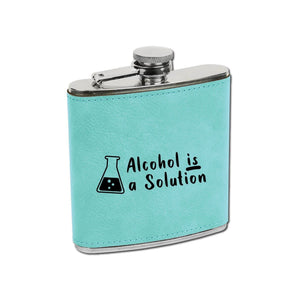 Alcohol is a Solution Flask - Alcohol is a Solution Flask - GriffonCo 3D Printed Miniatures & Gifts - GriffonCo Gifts