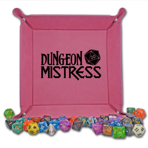 Dungeon Mistress Dice Tray - Dungeon Mistress Dice Tray - D20, Dice Accessories, Dice Tray, Dungeon Master, Dungeon Mistress, Dungeons and Dragons, Game Accessories, Gift, Laser Engraved, Leatherette