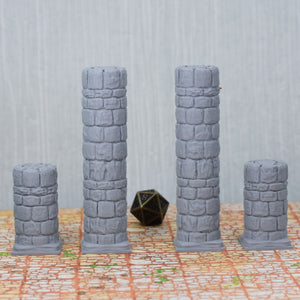 Round Dungeon Stone Pillars