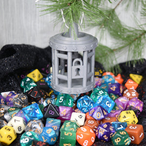Dice Jail Ornament - Dice Jail Ornament - 3D Printed, Christmas, Dice Holder, Dice Jail, Gift, Ornament, PLA, Printed Ornament, Thingiverse