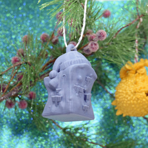 Christmas Slime Gelatinous Cube D&D Ornament - Christmas Slime Gelatinous Cube D&D Ornament - 3D Printed, Christmas, FDM Ornament, Gift, Ornament, PLA, Printed Ornament