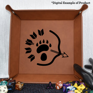 Ranger Class Dice Tray - Ranger Class Dice Tray - Class Specific, Dice Accessories, Dice Tray, Dungeons and Dragons, Game Accessories, Gift, Laser Engraved, Leatherette, Ranger