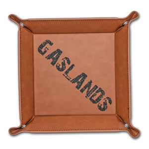 Gaslands Dice Tray - Gaslands Dice Tray - Dice Accessories, Dice Tray, Game Accessories, Gaslands, Gift, Laser Engraved, Leatherette