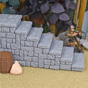 Stone Stairs - FDM Print - Fat Dragon Games