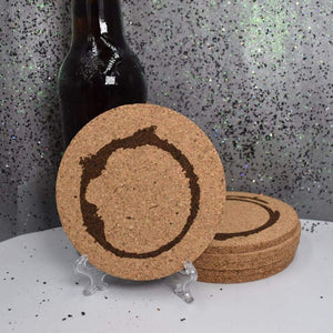 Coaster - Cork Round - Coffee Stains - Table Shield - GriffonCo