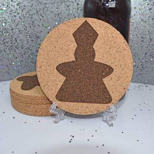 Coaster - Cork Round -  Meeples - Coaster - Cork Round -  Meeples - Bar Accessories, Board Game, Coaster, Cork, Cork Coaster, Game Room, Gift, Home Base, Kitchen View, Laser Engraved, Meeple, Table Shield, Tabletop Gaming