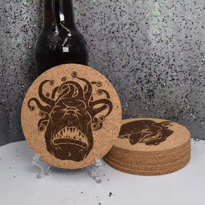 Coaster - Cork Round - Monster Set 1 - Table Shield - GriffonCo