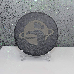 Coaster - Slate Round - Dont Panic - Table Shield - GriffonCo