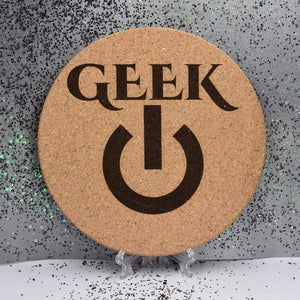 Cork Trivet - Geek - Table Shield - GriffonCo