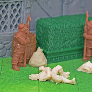 Corpses - Mini set of mini dead minis - FDM Print - Dark Realms