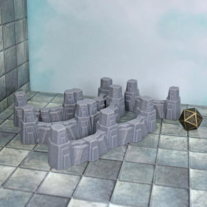 Defense Wall Set - FDM Print - Hayland Terrain