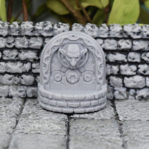 Demon Fountain Wall Statue - FDM Print - Fat Dragon Games