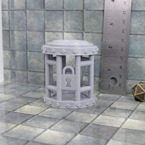 Dice Jail - Round - Gray - FDM Print - Thingiverse