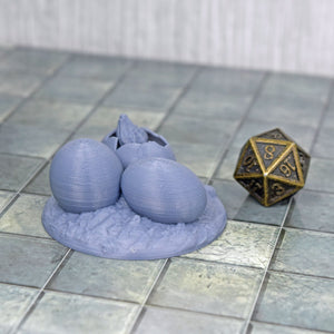 Dragon Eggs with Hatchling - Dragon Eggs with Hatchling - 3D Printed, Fat Dragon Games, FDM Terrain, PLA