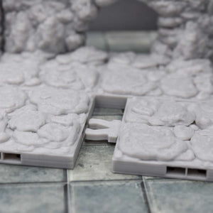 DragonLock Tiles - Cavern - Large Entrance - FDM Print - Fat Dragon Games