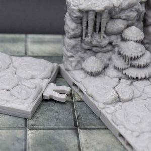 DragonLock Tiles - Cavern - Passage Way - FDM Print - Fat Dragon Games