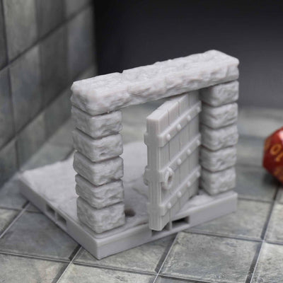 DragonLock Tiles - Dungeon - Door - FDM Print - Fat Dragon Games