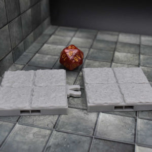 DragonLock Tiles - Dungeon - Floor - FDM Print - Fat Dragon Games