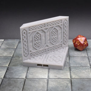 DragonLock Tiles - Dwarven - Angle Wall - FDM Print - Fat Dragon Games