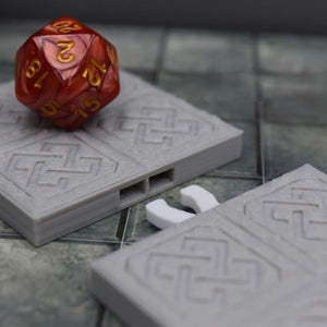 DragonLock Tiles - Dwarven - Double Door - FDM Print - Fat Dragon Games