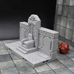 DragonLock Tiles - Dwarven - Dwarf Single Throne - FDM Print - Fat Dragon Games