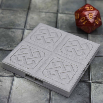 DragonLock Tiles - Dwarven - Floor - FDM Print - Fat Dragon Games