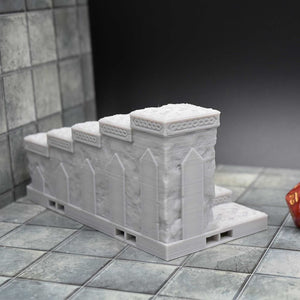 DragonLock Tiles - Dwarven - Staircase - FDM Print - Fat Dragon Games