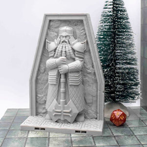 DragonLock Tiles - Dwarven - Tall Statue - FDM Print - Fat Dragon Games