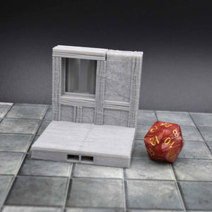 DragonLock Tiles - Tavern - Window - FDM Print - Fat Dragon Games