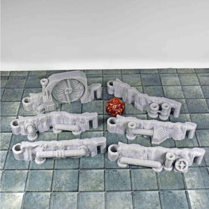 DungeonSticks - Steam Pipes - FDM Print - EC3D / Heros Hoard