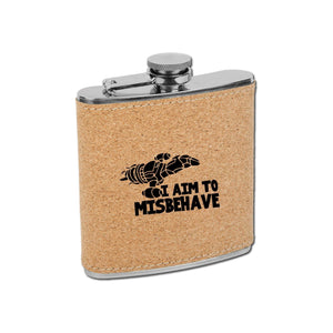 Aim to Misbehave Flask - Aim to Misbehave Flask - GriffonCo 3D Printed Miniatures & Gifts - GriffonCo Gifts
