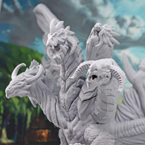 Elemental Queen Dragon - Elemental Queen Dragon - 3D Printed, Dragon, Elemental, Fantasy, FDM Miniature, Lost Adventures, Monster, PLA, tiamat