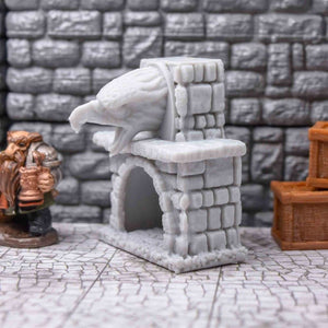 Griffon Mantle Fireplace Hearth - Exclusive! - FDM Print - AEther Studios