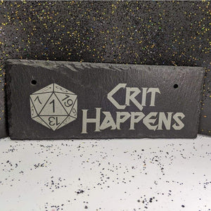 10 x 4 Hanging Slate - Crit Happens - Room Decor - GriffonCo