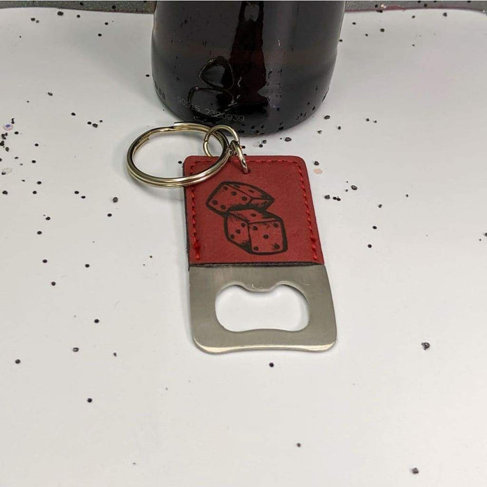 Keychain Bottle Opener - Dice