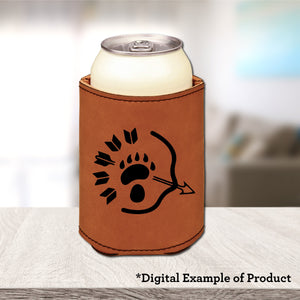 Ranger Koozie - Ranger Koozie - Bar Accessories, Beverage Holder, Class Specific, Cork, Dungeons and Dragons, Gift, Koozie, Laser Engraved, Leatherette, Ranger