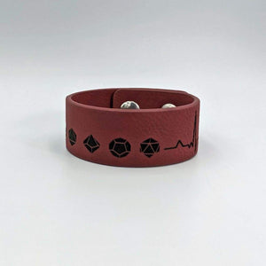 1 Leatherette Cuff Bracelet - D&D Lifeline - Accessories - GriffonCo