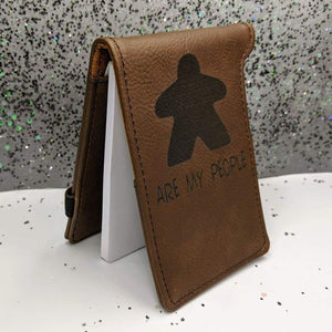 Leatherette Mini Notepad with Pen - Game On - Meeple - Supplies - GriffonCo