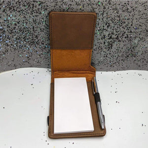 Leatherette Mini Notepad with Pen - Perception Check - Supplies - GriffonCo