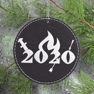 Ornament - 2020 Crit Happened - Ornament - 2020 Crit Happened - 2020, Christmas, Crit, Crit Happened, Dungeons and Dragons, Gift, Laser Engraved, Laser Ornament, Leatherette, Ornament, White Elephant