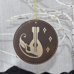 Ornament - Bard - Ornament - Bard - Bard, Christmas, Class Specific, Dungeons and Dragons, Gift, Laser Engraved, Laser Ornament, Leatherette, Ornament, White Elephant