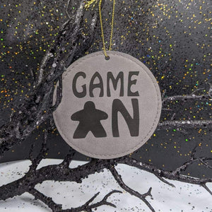 Leatherette Ornament - Game On Meeple - Ornament - GriffonCo