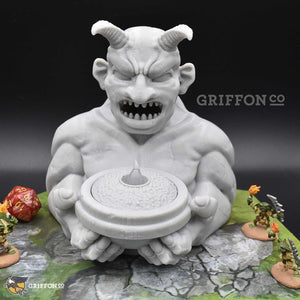 Light Up - Demon Statue - FDM Print - Fat Dragon Games